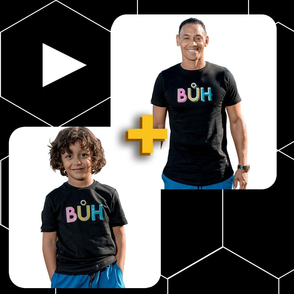 Conjunto Buh Pai e Filho Plastic Preto