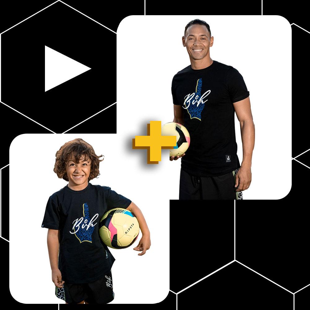 Conjunto Pai e Filho Camiseta Preta Logo Elefante1