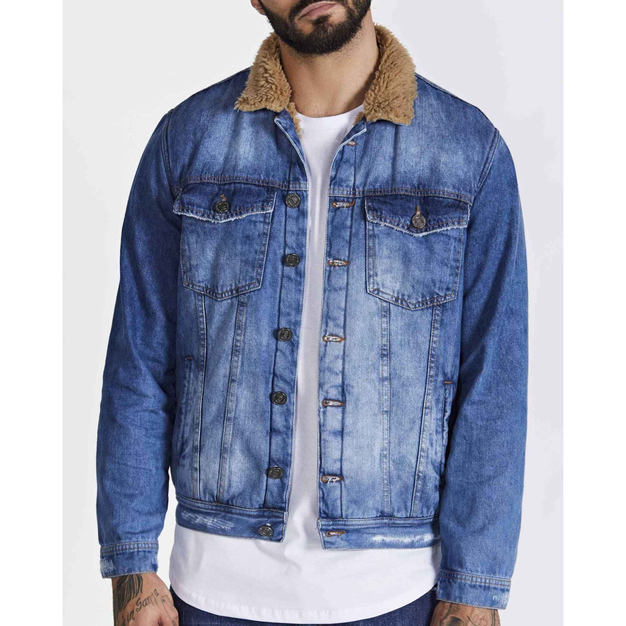 Jaqueta Buh Jeans Pelo Blue Light