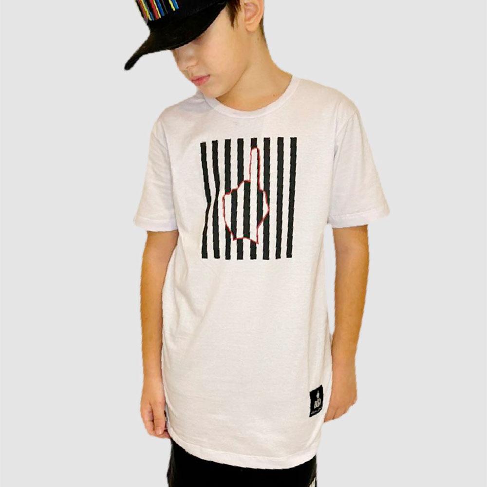 Camiseta Buh Kids Finger Lines Branca
