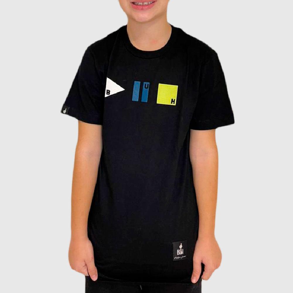 Camiseta Buh Kids Pause Play Stop Preta