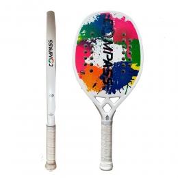Raquete de Beach Tennis Colors White + Grip de Brinde