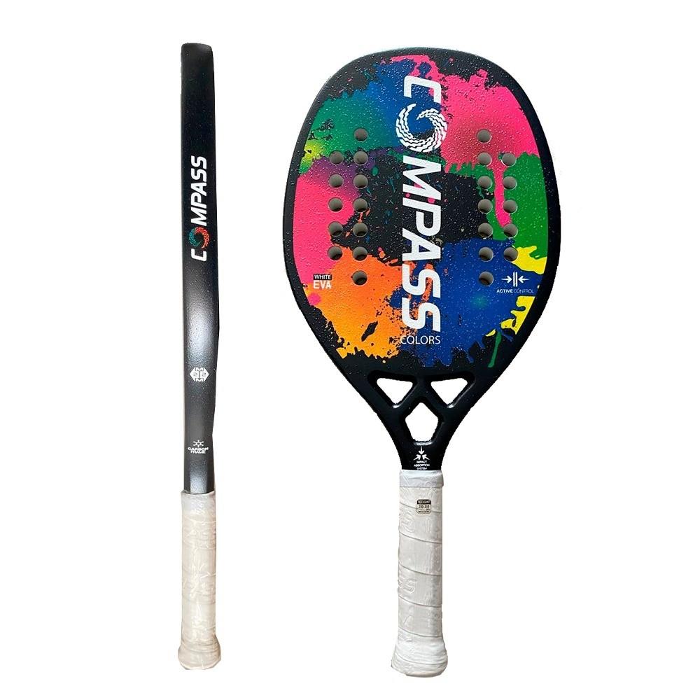 Raquete de Beach Tennis Colors Black + Grip de Brinde