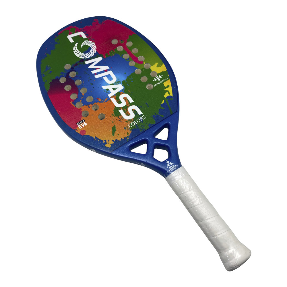 Raquete de Beach Tennis Colors Blue + Grip de Brinde