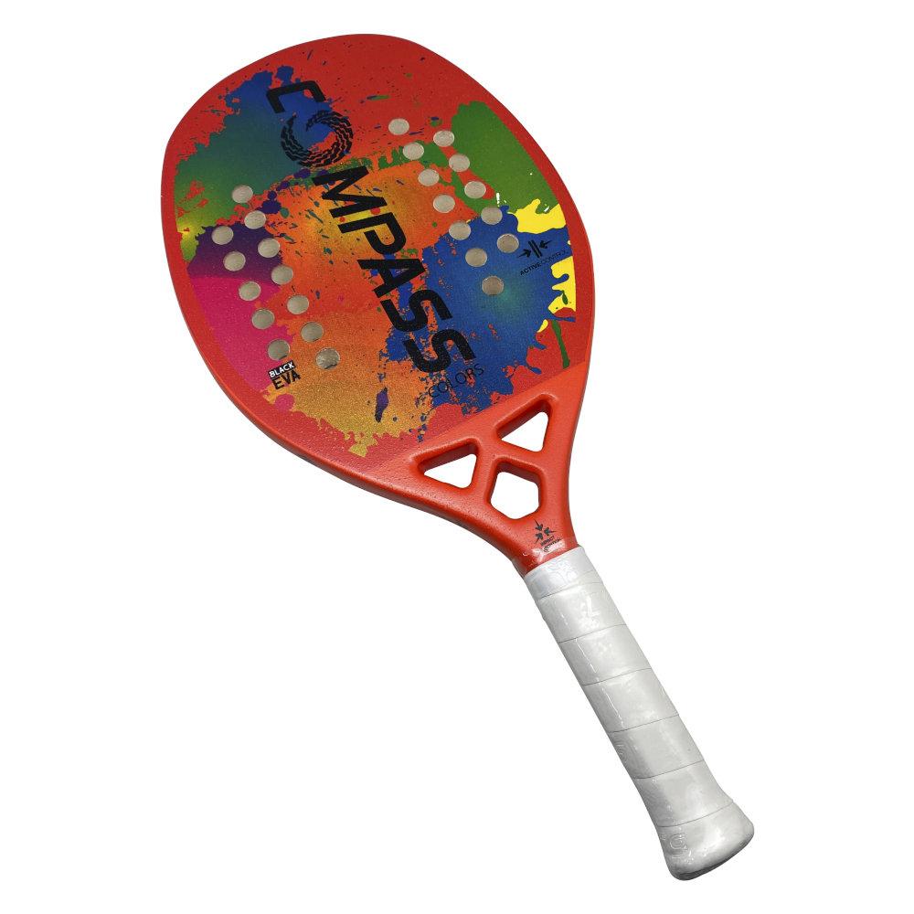 Raquete de Beach Tennis Colors Orange + Grip de Brinde