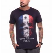 Camiseta Paris Skull Azul Marinho