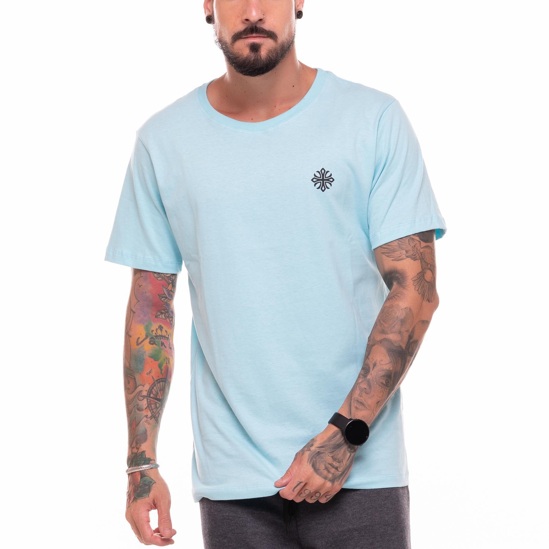 Camiseta Basic Machine Azul Claro