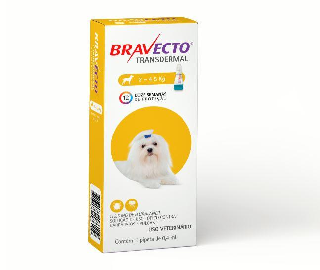 BRAVECTO TRANSDERMAL CAES 112,5MG 2 - 4,5KG