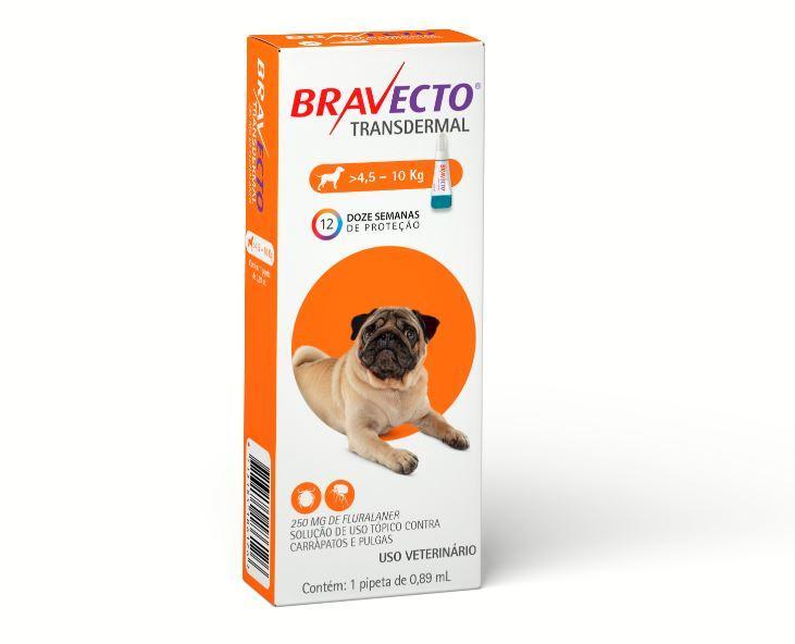 BRAVECTO TRANSDERMAL CAES 250MG 4,5 - 10KG