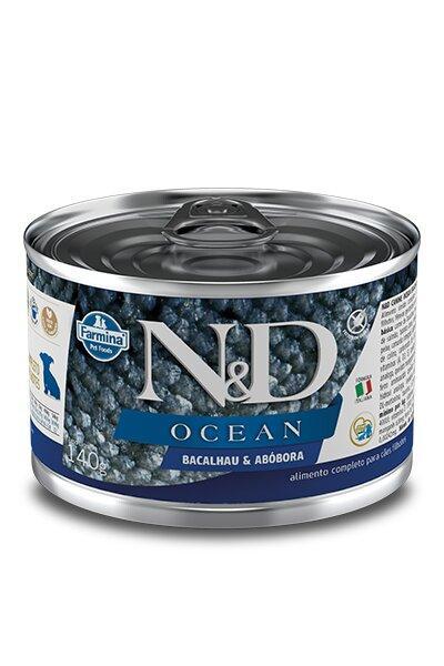 ND CANINE WET OCEAN BACALHAU E ABOB PUPPY 140G