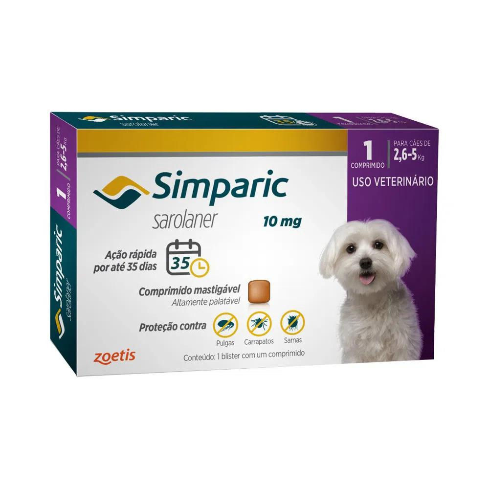 SIMPARIC 10MG (2,6 - 5KG) 1 COMPRIMIDO