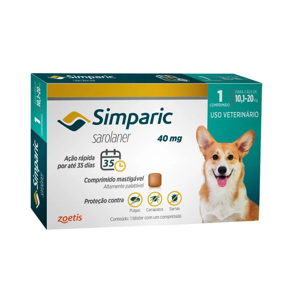 SIMPARIC 40MG (10,1 - 20KG) 1 COMPRIMIDO