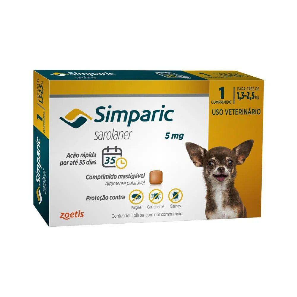 SIMPARIC 5MG (1,3 - 2,5KG) 1 COMPRIMIDO