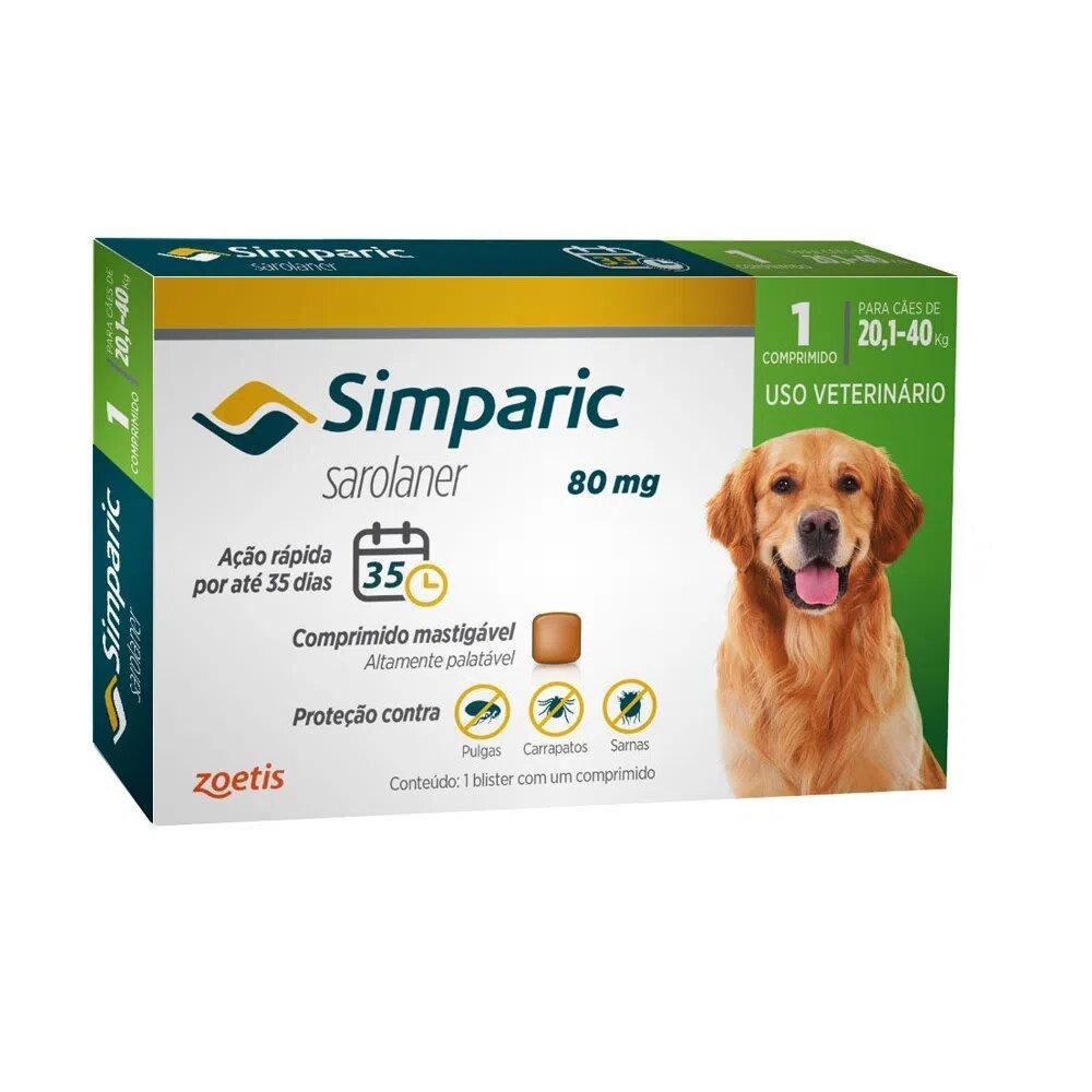 SIMPARIC 80MG (20,1 - 40KG) 1 COMPRIMIDO
