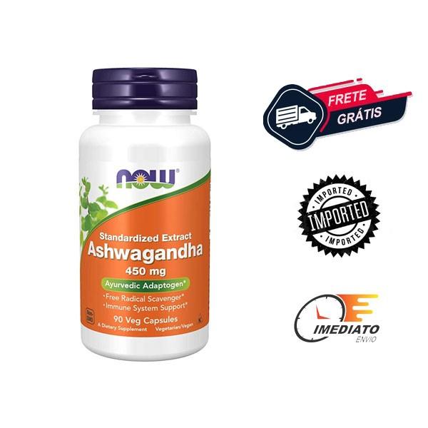 Ashwagandha - Now Foods (450 mg - 90 Cápsulas)