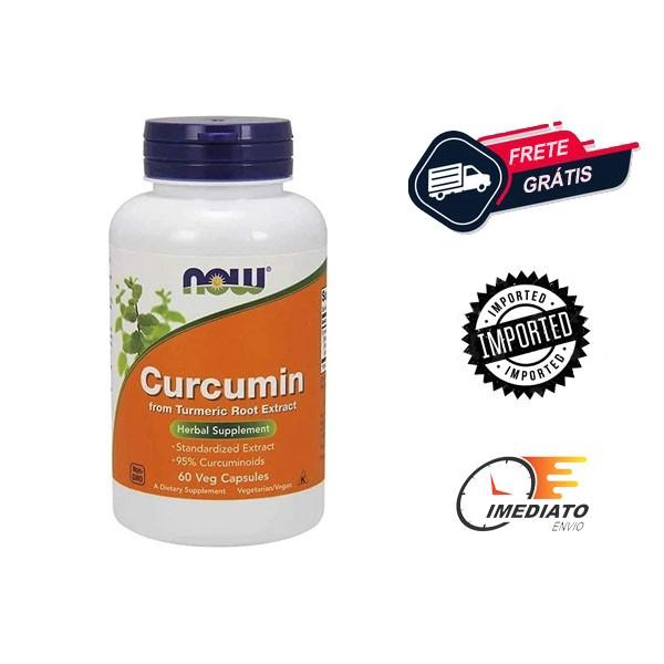 Curcuma - Now Foods (Curcumina) - (60 Cápsulas - 630 mg )
