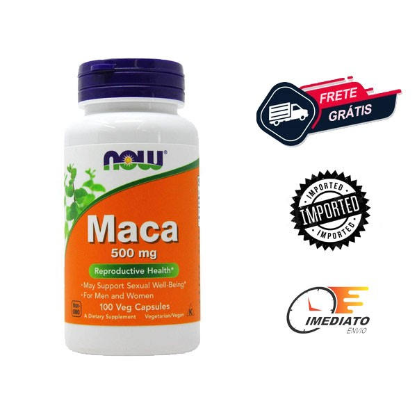 Maca Peruana - Now Foods (100 Cápsulas - 500mg)