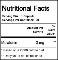 Melatonina 3 mg - Now Foods (60 Cápsulas)