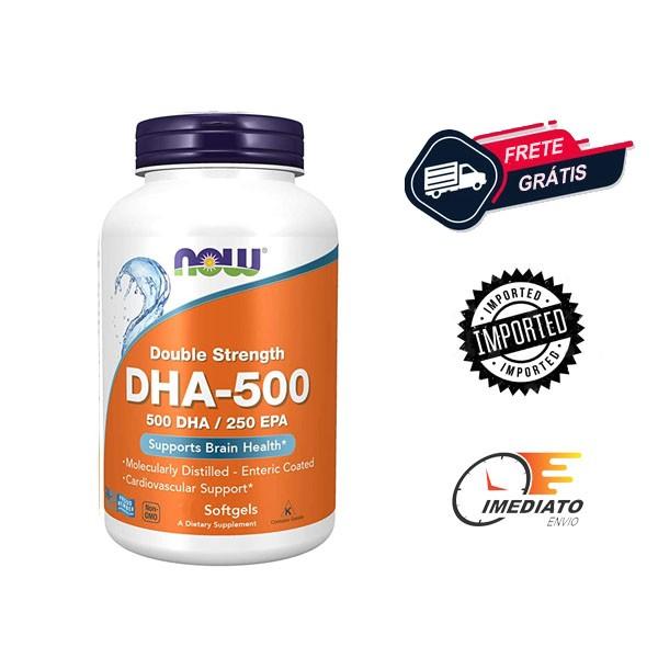 Ômega 3 DHA 500 \ EPA 250 - Now Foods ( 90 Cápsulas - Importado )