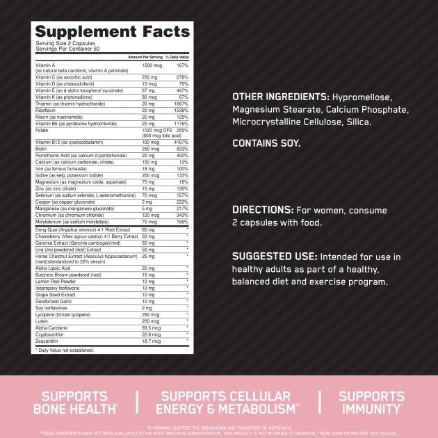 Optiwomen - Optimum Nutrition ( 120 Cápsulas - Importado )