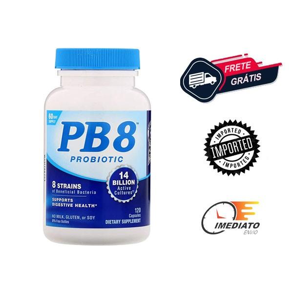 Probiótico - PB 8 - Now Nutrition (120 Cápsulas - 14 Bilhões)
