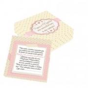 Caixa convite padrinhos rosa