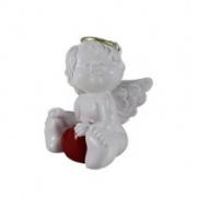 Enfeite anjo resina sentado