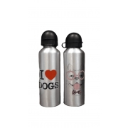 Garrafa  I Love Dogs rosa