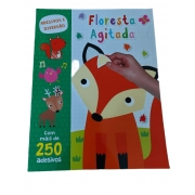 Livro de adesivos Floresta Agitada