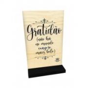 Madeirinha papel vertical Gratidão