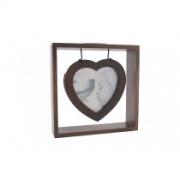 Porta retrato coração marrom