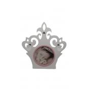 Porta retrato coroa rosa