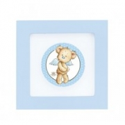 Quadrinho Urso azul com asas