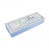 Caixa articulada Meu batizado azul