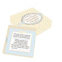 Caixa convite padrinho azul