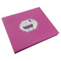 Álbum lembranças do bebê rosa