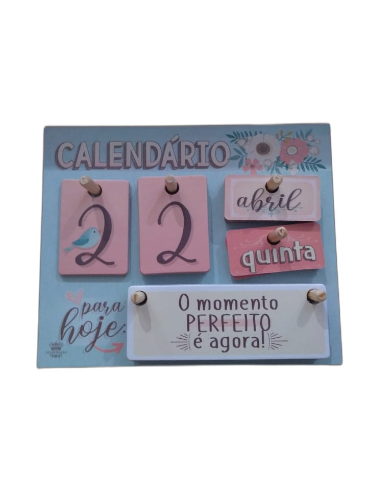 Calendário de mesa permanente