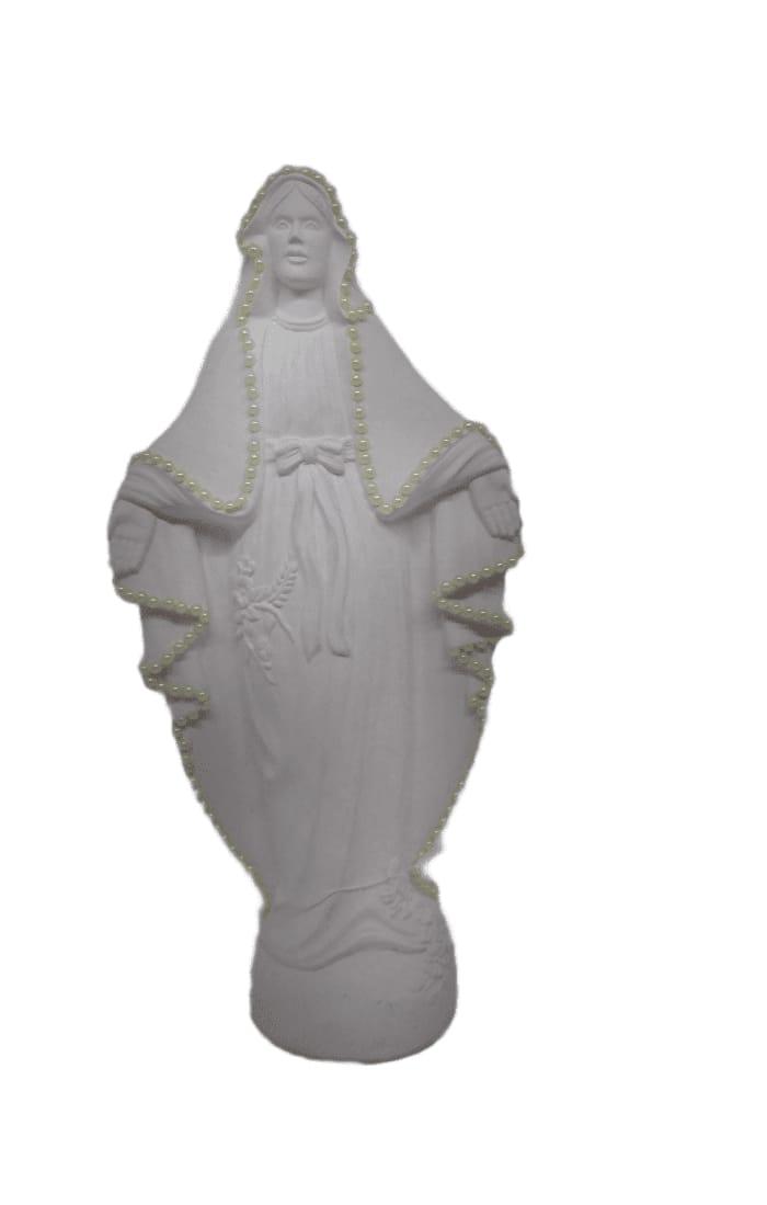 Imagem Nossa Senhora das Graças com pérolas