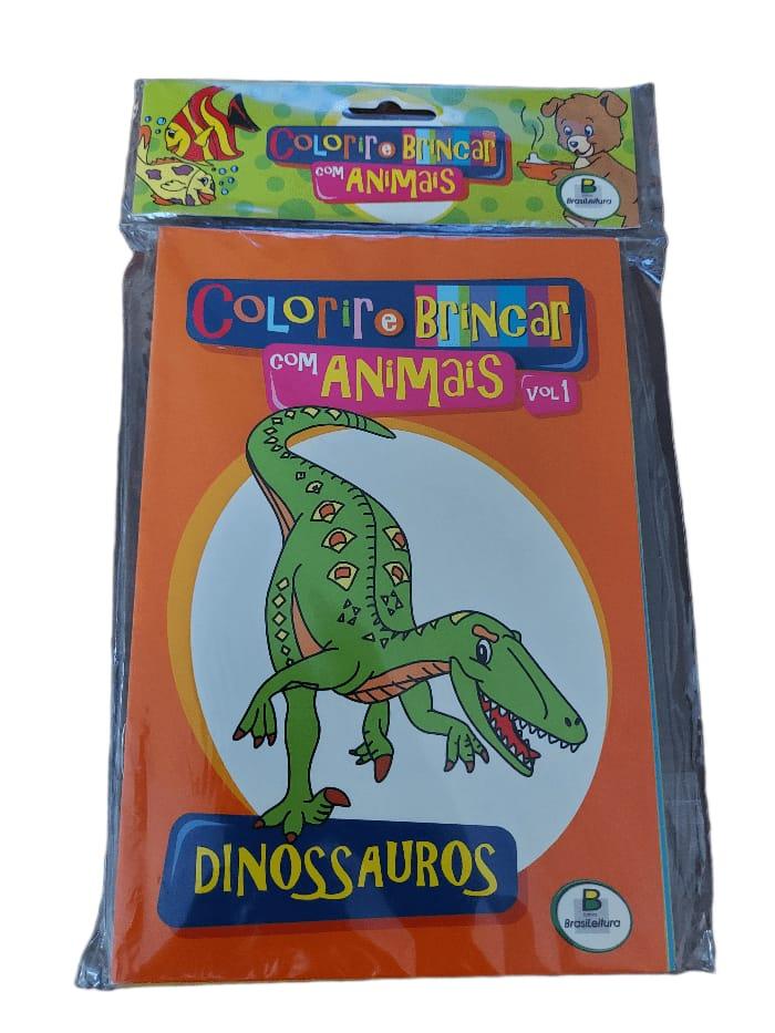 Livros  Colorir e Brincar- kit 10 livros