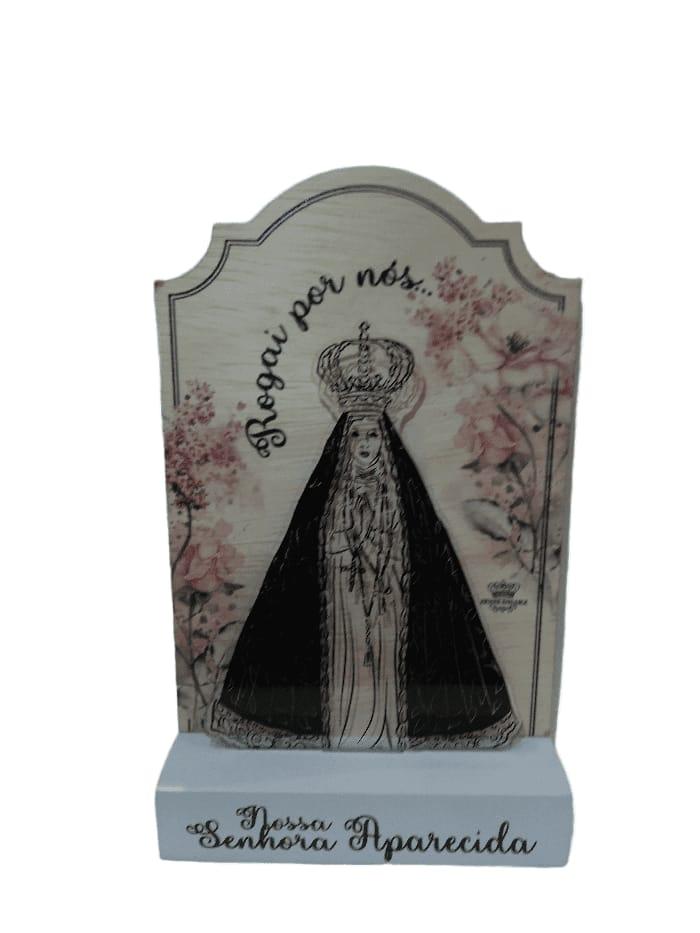 Madeirinha com acrílico Nossa Sra. Aparecida