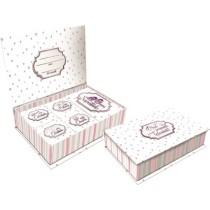 Pequenos tesouros Rosa Listrado