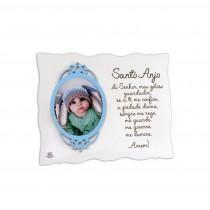 Porta- retrato com moldura Santo Anjo azul