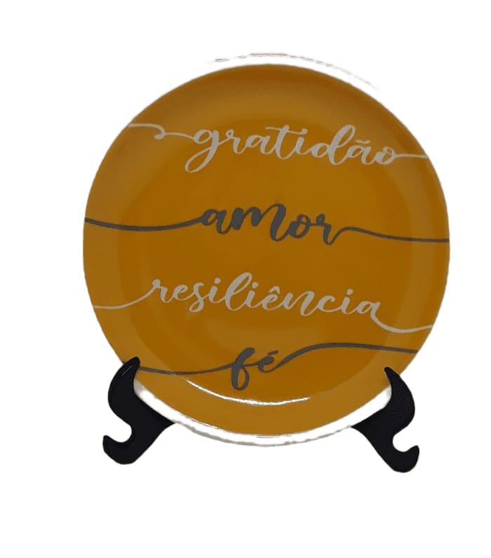 Prato decorativo Gratidão