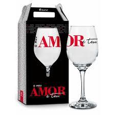 Taça de vinho Meu amor é teu.