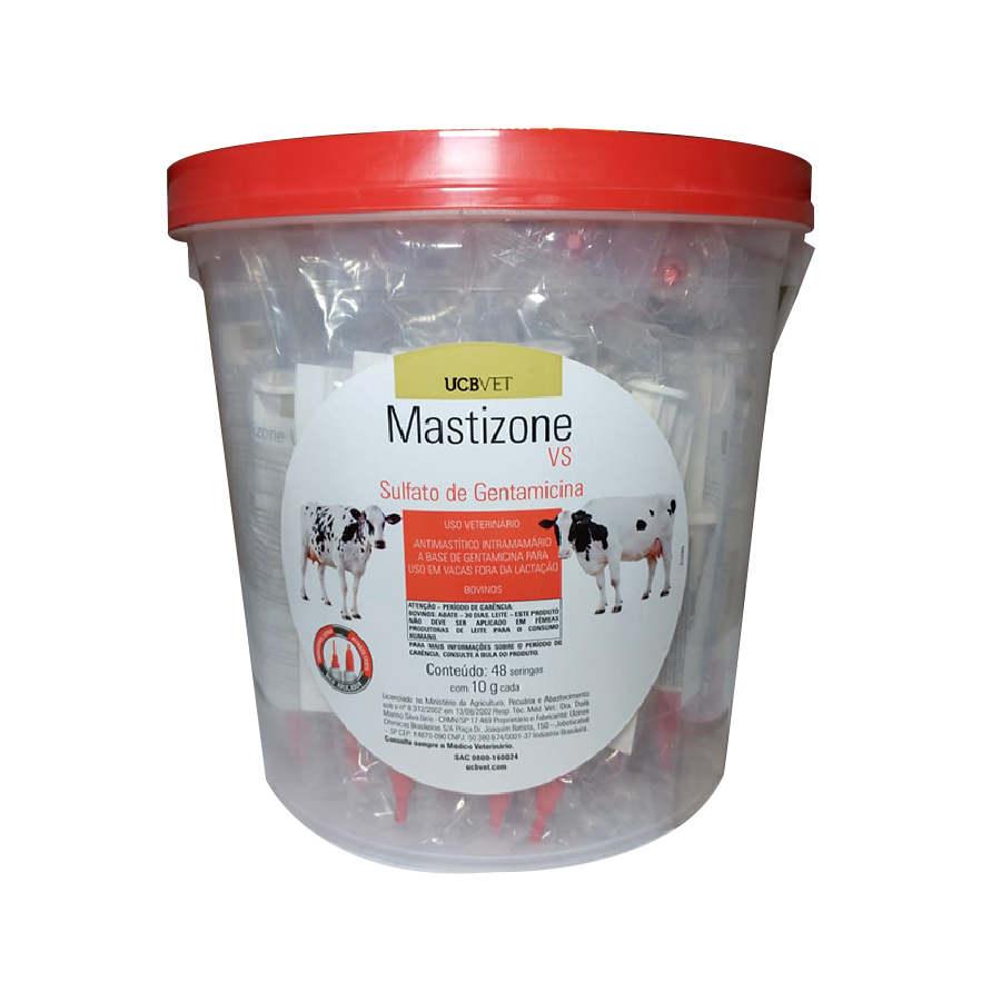 48 Seringas Mastizone Vaca Seca - 10 Gr Ucb