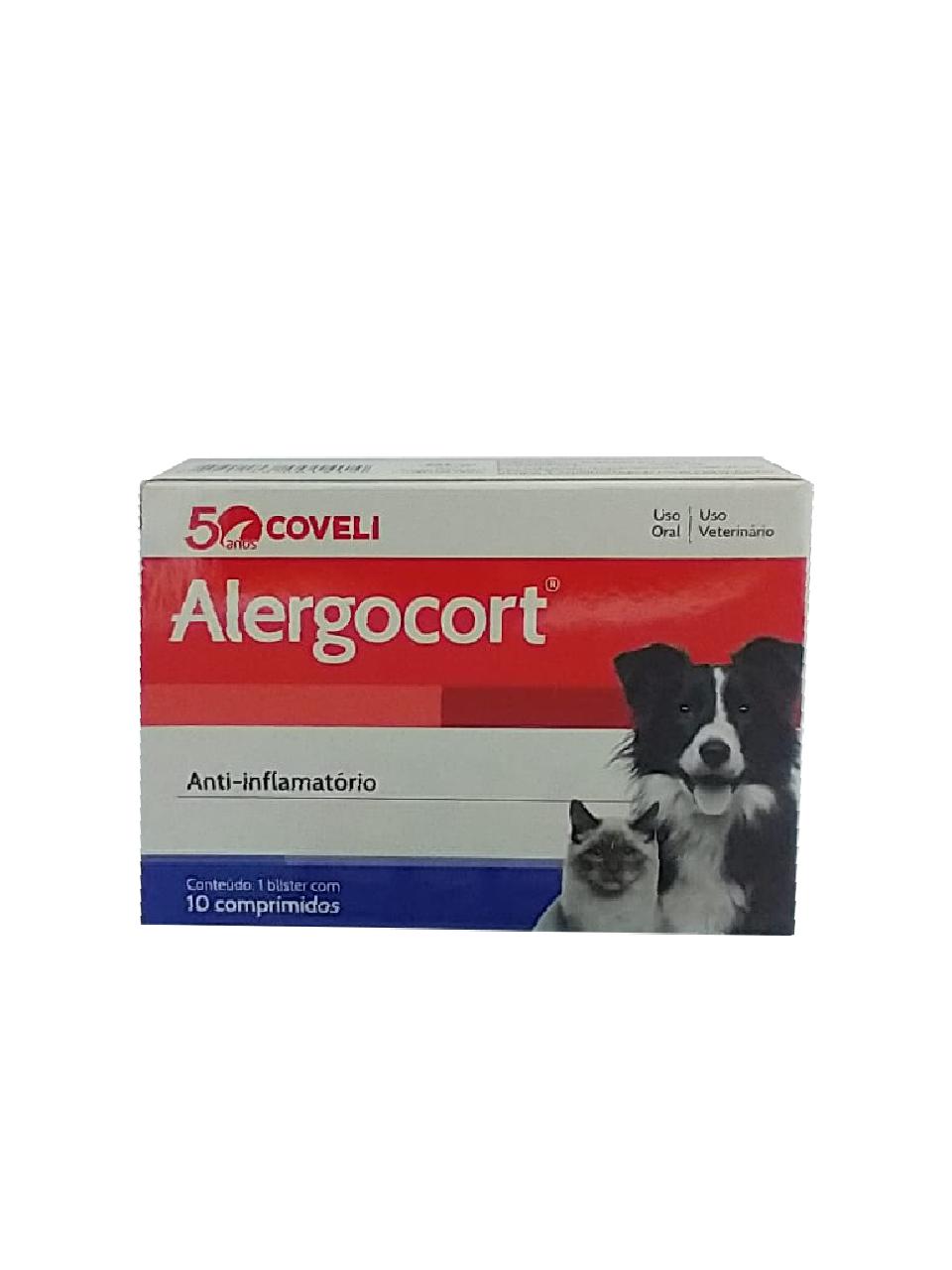 Alergocort Para Cães E Gatos Coveli - 10 Comprimidos