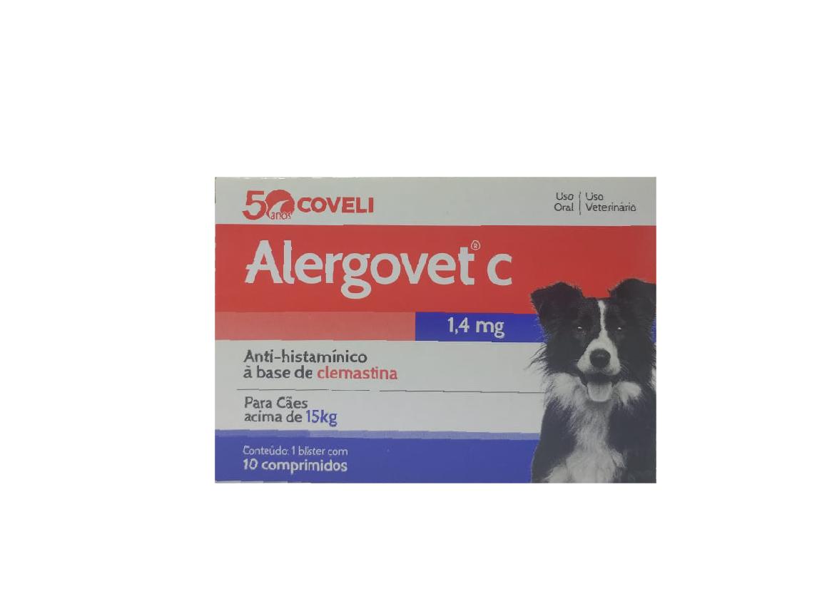 Antialérgico Coveli Alergovet C 10 Comprimidos - 1,4 Mg