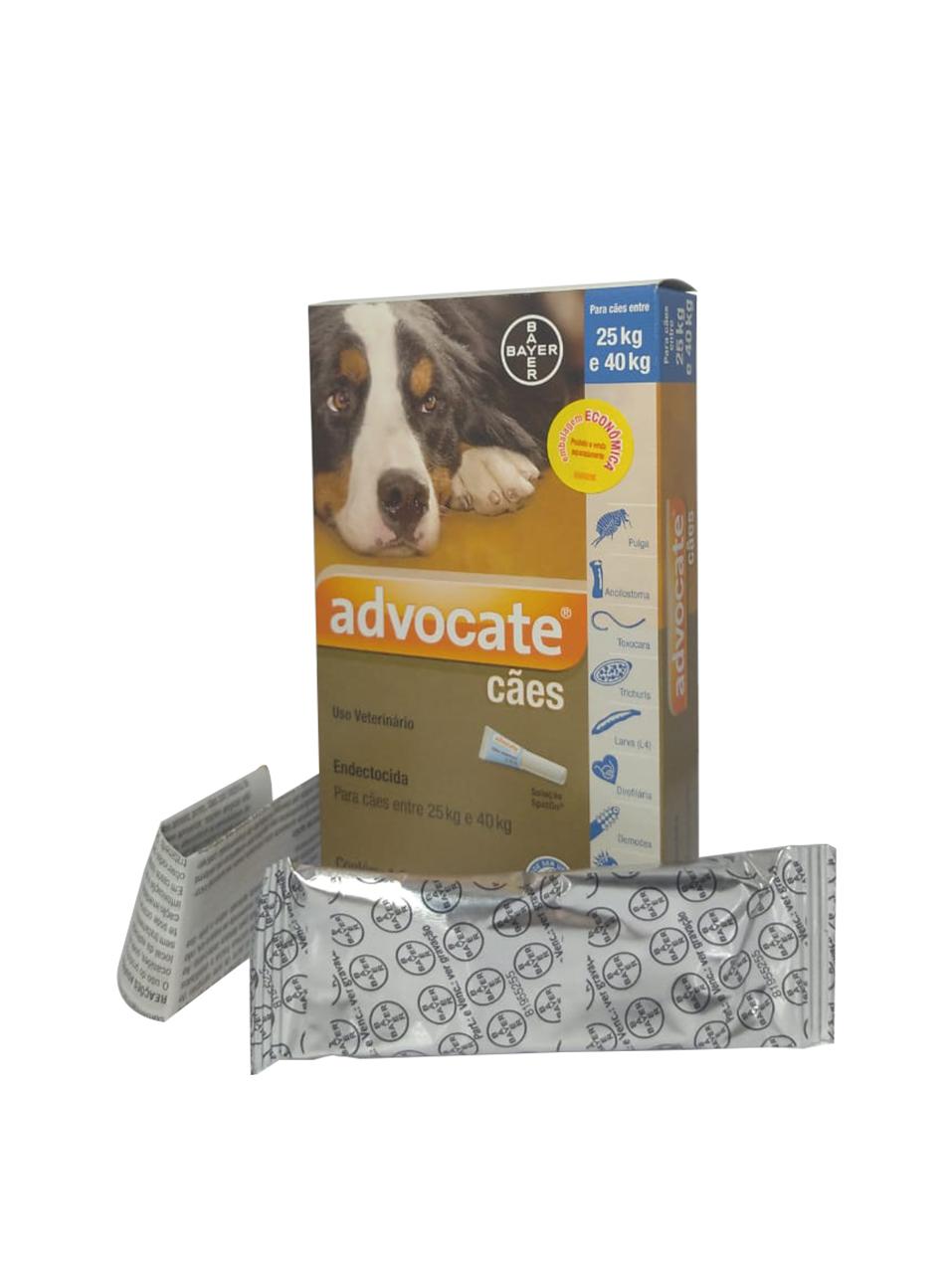 Antipulgas Bayer Advocate para Cães 25kg a 40kg - 4,0 mL