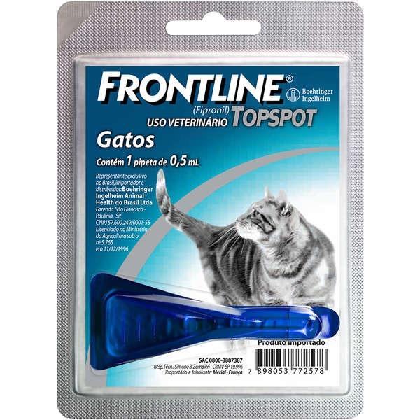 Antipulgas e Carrapatos Frontline Top Spot para Gatos - 0,5ml