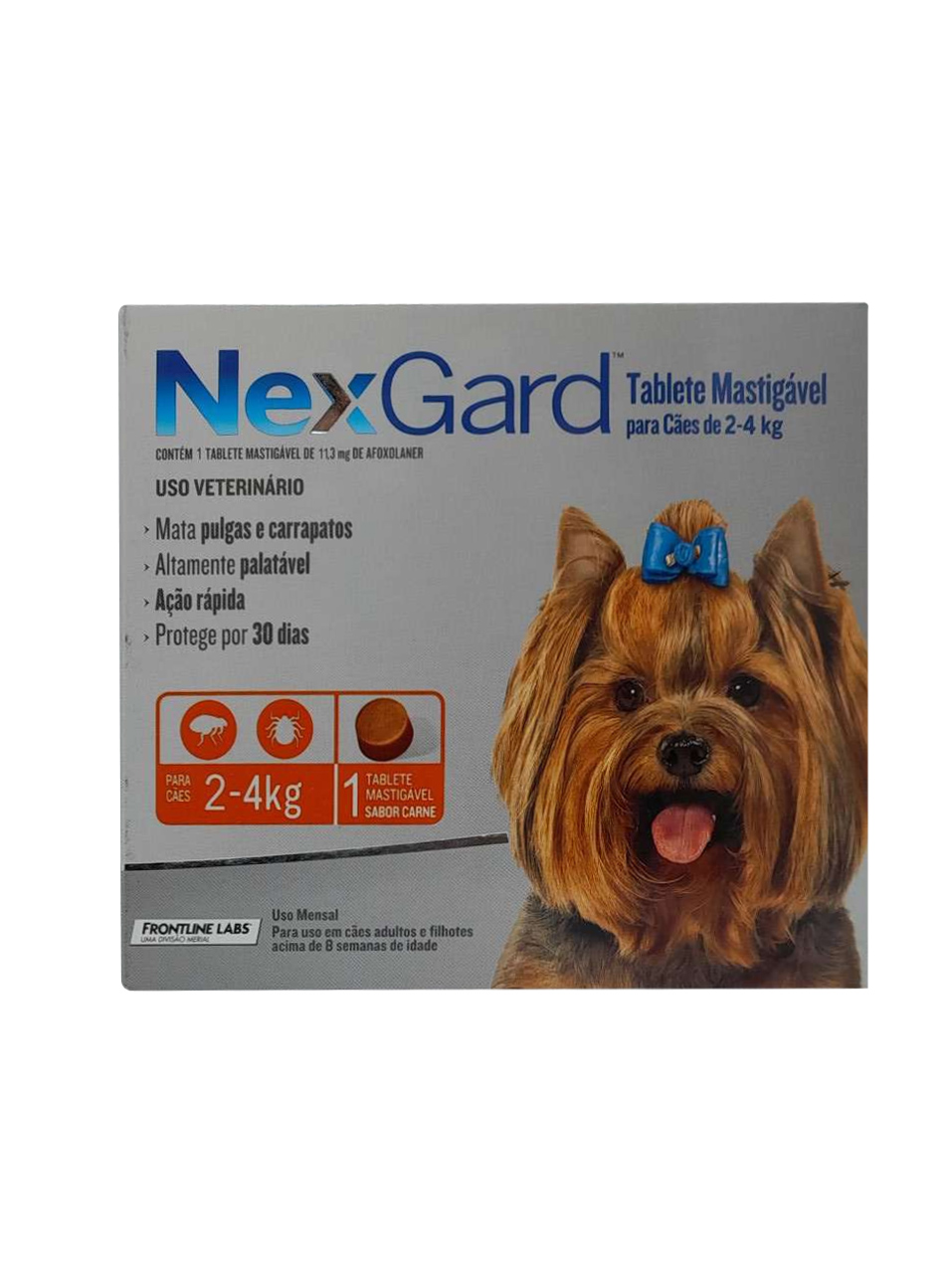 Antipulgas e Carrapatos NexGard 11,3 mg para Cães de 2 a 4 Kg - 1 Tablete